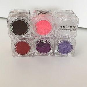 6 makeup glitter splash and naked cosmetics